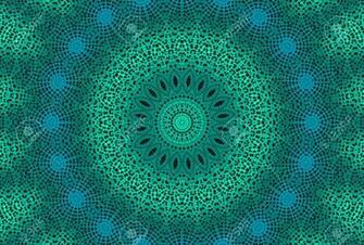 Abstract Emerald Background With Radial Dotted Pattern Stock Photo