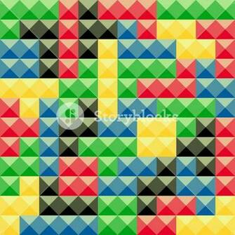 Colorful tetris pieces abstract background Plastic construction