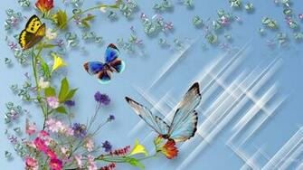 Butterfly and flower wallpaper   SF Wallpaper
