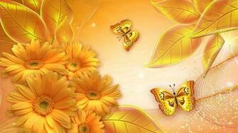 Flowers Gold Awesome Wallpaper
