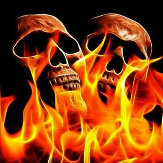 Animated Flaming Skull Wallpaper Flaming skull by megaossa