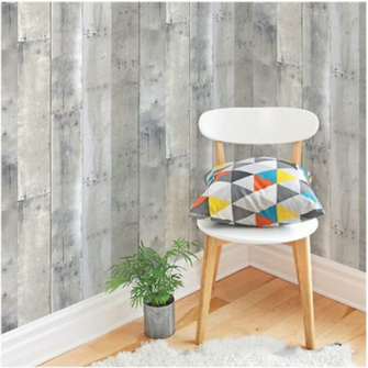USING PEEL AND STICK WALLPAPER TO DRESS UP BUILT IN SHELVES Refined