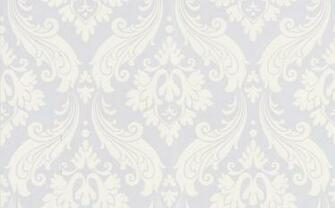 wallpaper 30 158 Vintage Flock baroque light grey white Wallpaper