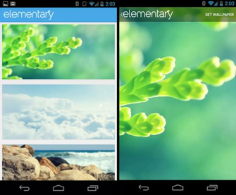 elementary wallpapers app for android like the os the android app is a