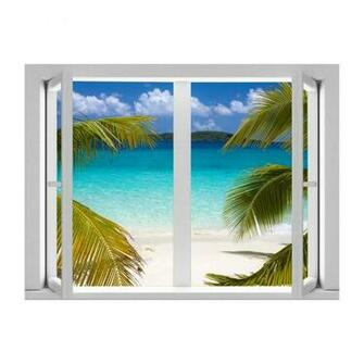 AMD7007 Calm Cabana Removable Large Wallpaper Mural Lowes Canada