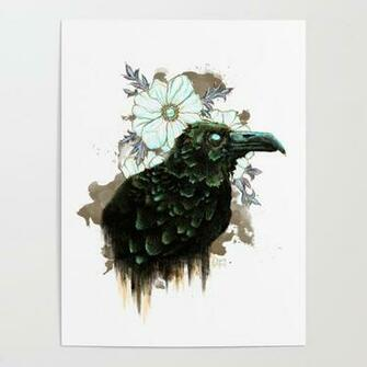 Nevermore   Alternate Color w White Background Poster by