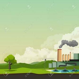 Environmental Pollution Background Vector Illustration Royalty