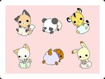 Cute Chibi Animals Wallpaper Kawaii chibis anime on