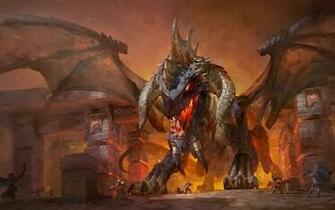 Download wallpapers Nefarian fire dragon monsters World of