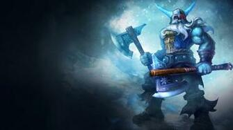 olaf league of legends hd wallpaper glacial skin splash 1920x1080 8l