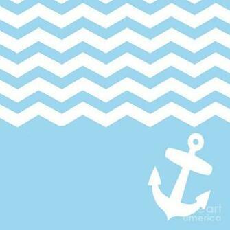 Blue Chevron And Anchor Digital Art by Li Or   Blue Chevron And