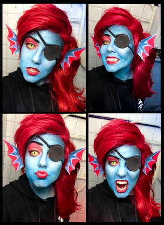 Undyne   Undertale Cosplay by Mitternachto
