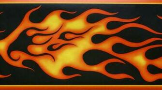 HARLEY DAVIDSON FLAMES WALLPAPER BORDER   21B10   FDB0092