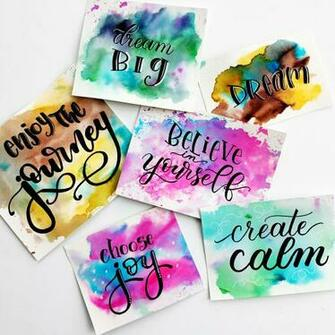 Easy Watercolour Background Techniques for Hand Lettering Quotes