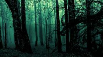 Dark ghost gothic wood trees fantasy evil horror wallpaper 1920x1080