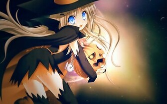 Animated Halloween Girl Wallpaper