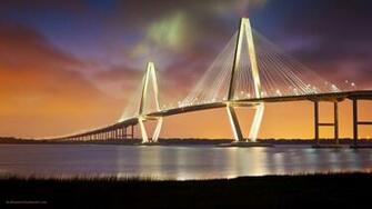 Arthur Ravenel Jr Bridge Night