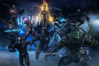 Avengers EndGame Iron Man Thor Hulk Black Widow War Machine