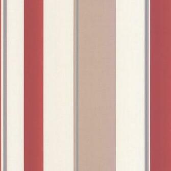 Striped Wallpaper Red Taupe Cream   Erismann from I love wallpaper