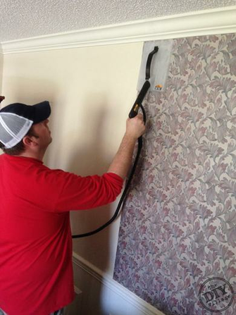 Easy Wallpaper Removal With the HomeRight SteamMachine by the DIY