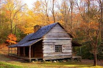 Olde Cabin in the Woods wallpaper   ForWallpapercom