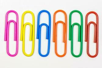 Photo of six multicolored paper clips HD wallpaper Wallpaper Flare