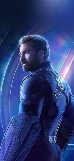 Captain america avengers hero chris evans iPhone X wallpaper