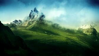 Wallpapers   Green Misty Mountains 2048x1152 wallpaper