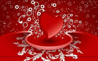 red heart romantic valentine wallpaper   o