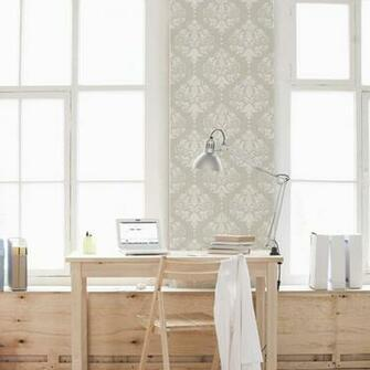 Damask Removable Wallpaper Tile Office