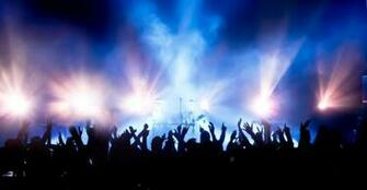 Crowd at Concert Wallpaper Wall Decor
