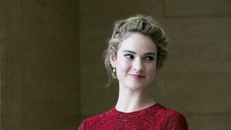 1360x768 2019 Lily James Desktop Laptop HD Wallpaper HD