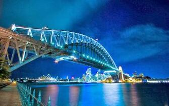 bridge at night hd widescreen wallpaper Techies Tips and Tricks