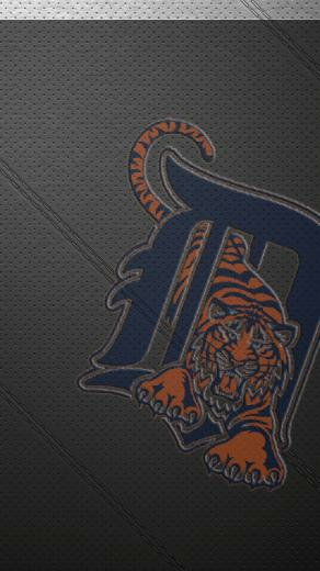 iPhone 5 Wallpaper Leather detroit tigers