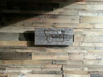 Recycled pallet and reclaimed wood paneling rustic wallpaper