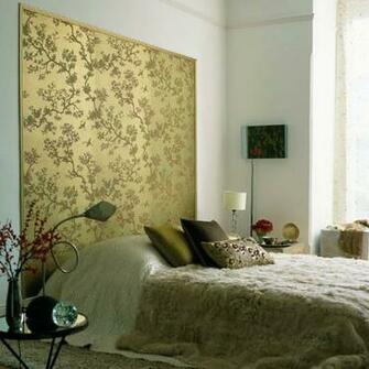 eye catching headboard Bedroom wallpaper ideas housetohomecouk
