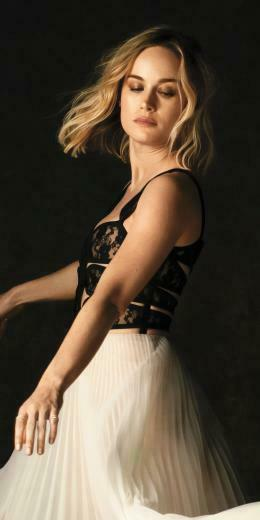 2019 blonde Brie Larson actress 1080x2160 wallpaper