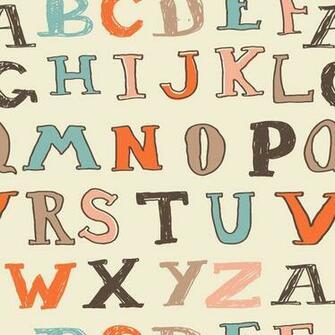 Alphabet Soup Removable Wallpaper Walls wallpaper and fabric Pi