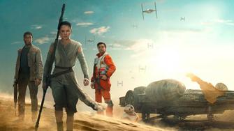 Star Wars Episode VII The Force Awakens HD Wallpaper Finn Rey and