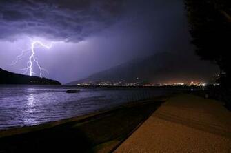 Thunderstorm at Domaso Beach Okay Wallpaper