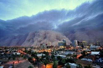 dust storm Haboob roared through Phoenix Arizona by dan bryant