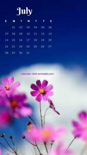 july 2019 iphone flower wallpaper 2019 Calendars in 2019