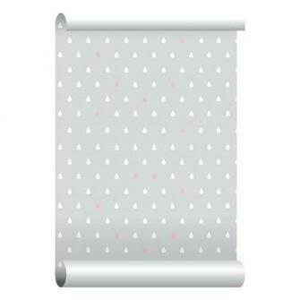 Self adhesive Removable Wallpaper Raindrops Pink Wallpaper Peel and