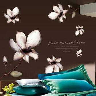 Aliexpresscom Buy Purple Lilies DIY Wallpaper Removable Wall Decals