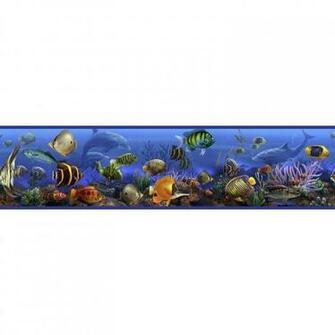 Under The Sea Wallpaper Border Room Wall Decor Ocean Fish Dolphin