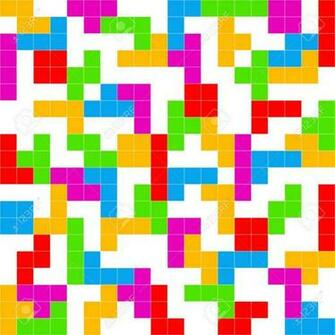 Tetris Game White Background Stock Photo Picture And Royalty