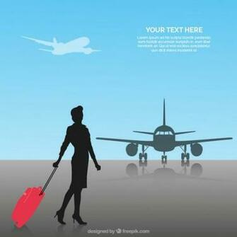 Flight Attendant Background Vector 123Freevectors