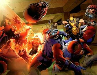 Cyclops and Wolverine VS Sentinels Comicnewbies
