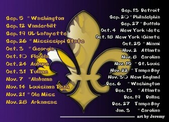 2009 LSU Saints by artbyJeremy