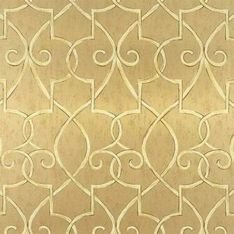 Lattice Wallpaper in Metallic Gold   Geometric Wallpaper   Wallpaper